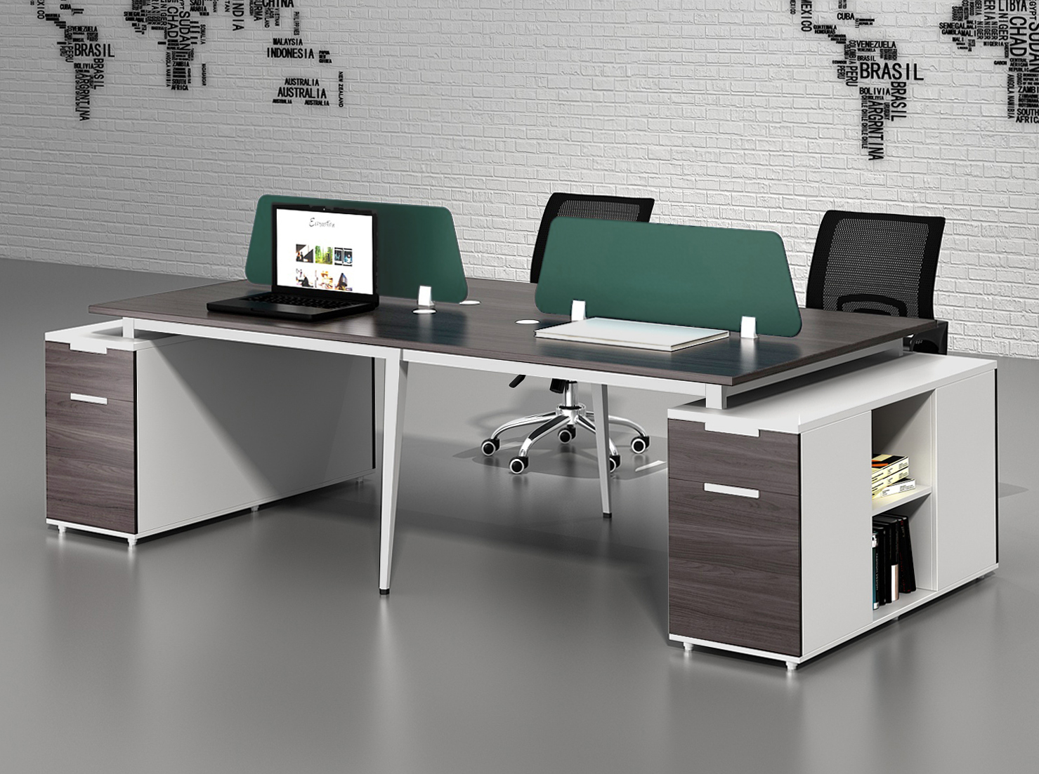CF-GJP181 Newest Office Workstation for 4 Person