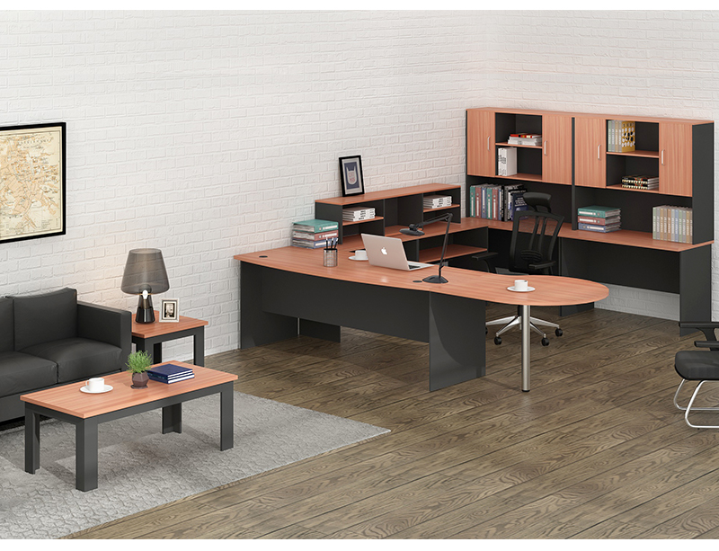 Simple Design Office Desk Single Table Wooden Furniture