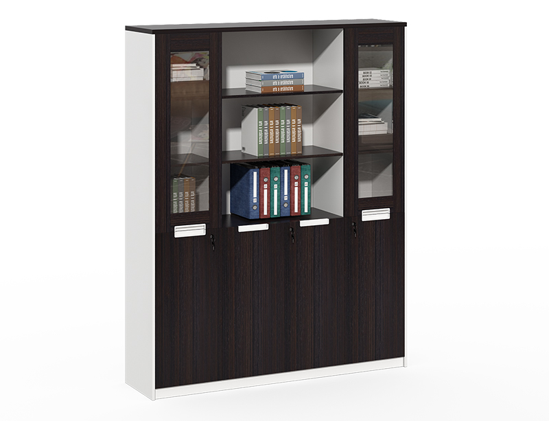 Cheap Best Choice 2 Wooden frame with glass modern file cabinet