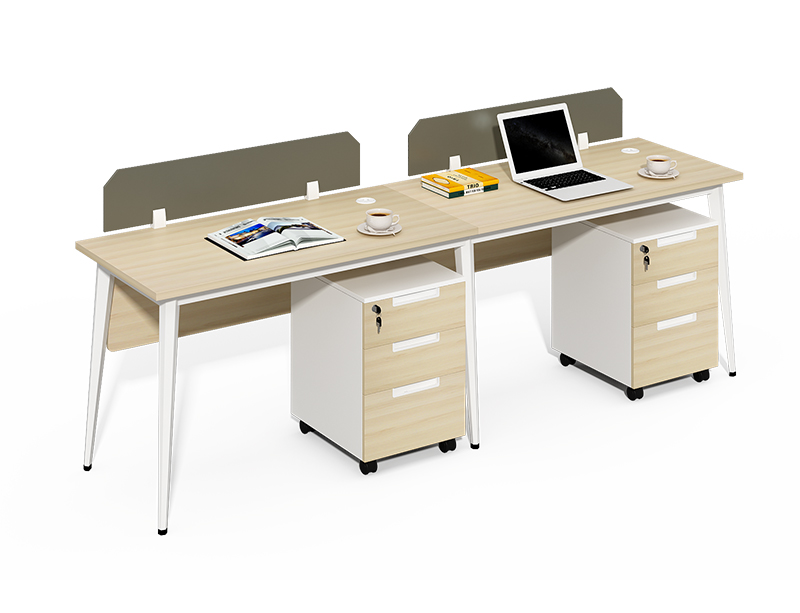 Buy open 2 person office workstation desk online with 2x3 drawers mobile pedestal