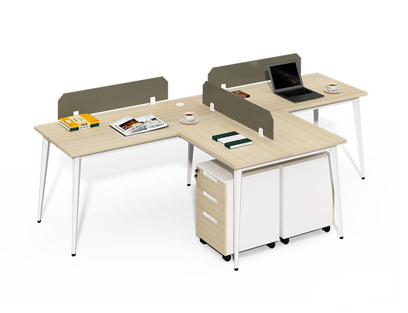 Wholesale office furniture 3 person l shaped office workstation for sale CF-BKW2414Q