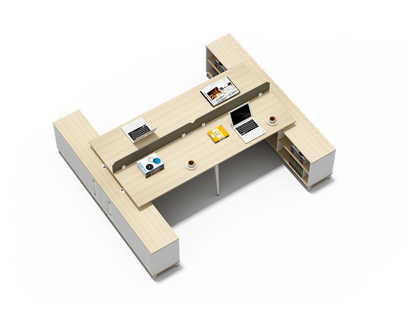 China Supplier Reliable Quality 4 person office workstation desk with shelf price CF-BKW2420P