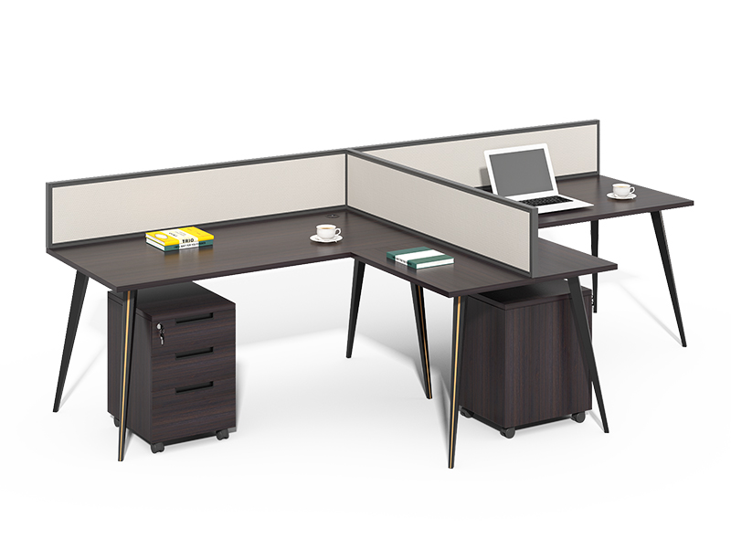 China Manufacturer metal legs 2 seater office table on sale CF-CL2414NC