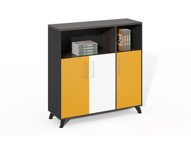 Cheap Best Choice black Openshelf  3 swing doors office file cabinet CF-HMF1212D