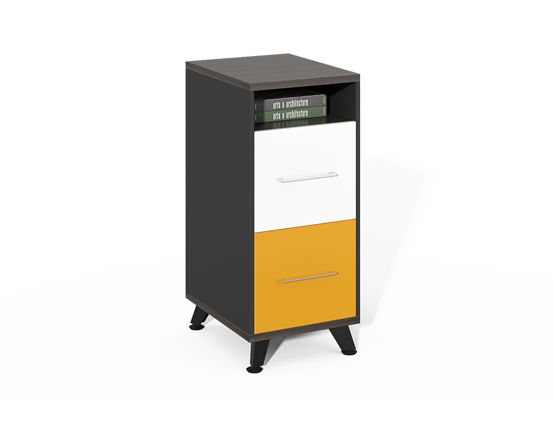 Low Price office furniture 2 drawer wood file cabinet with shelves CF-HMF0475A