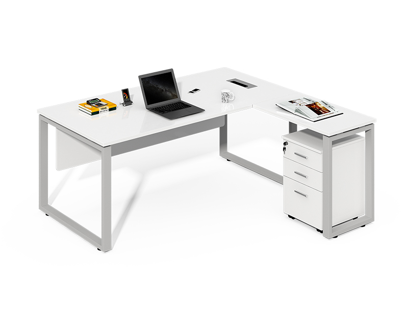 wholesale office furniture big executive white boss desk manager table price CF-LY1214