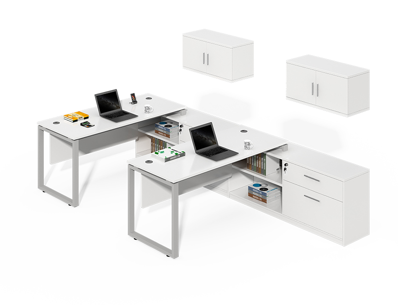 China Manufacturer white hanging cabinet executive l shaped desk for sale CF-LY1632W