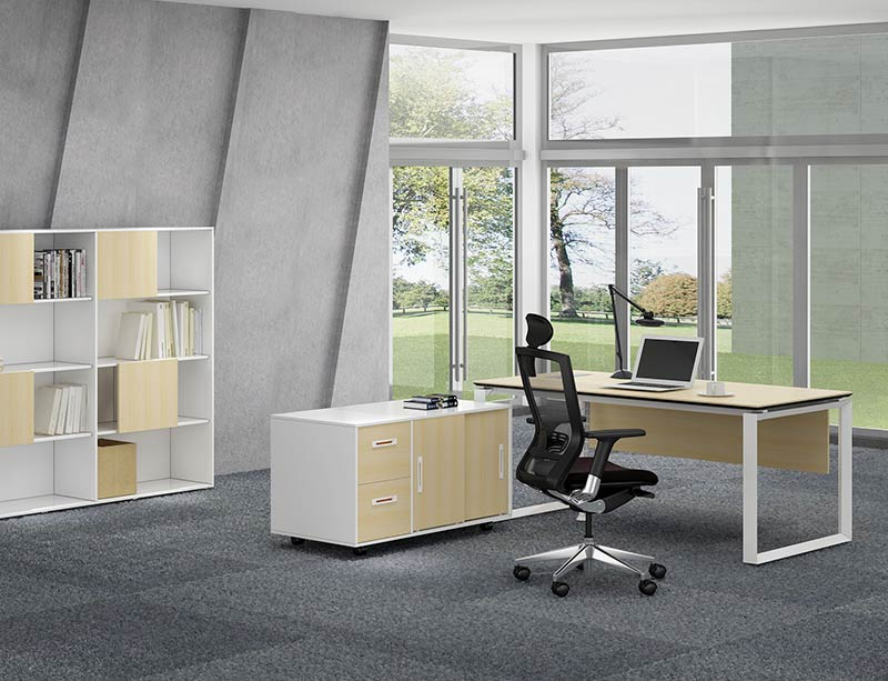 Factory price l shaped high tech executive office desk