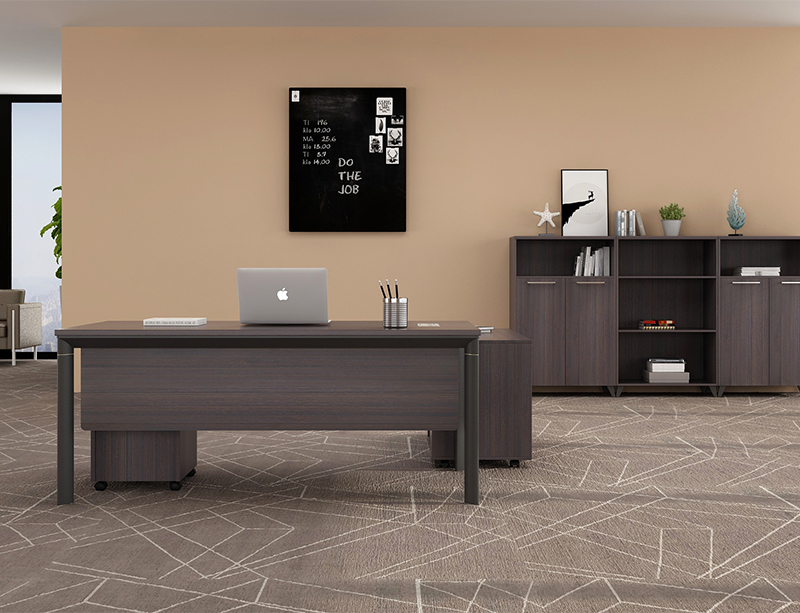 Metal leg executive desk