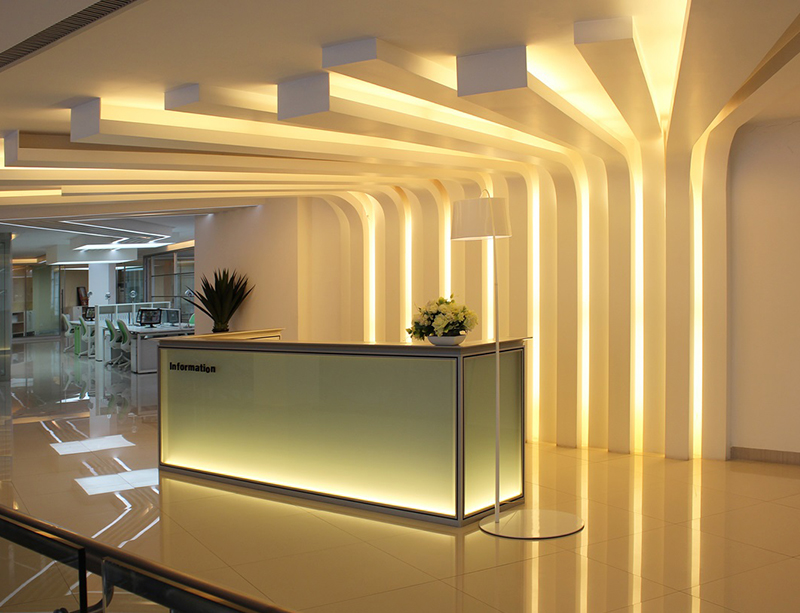 CF-RCPD1 Luxury Glass Reception Desk