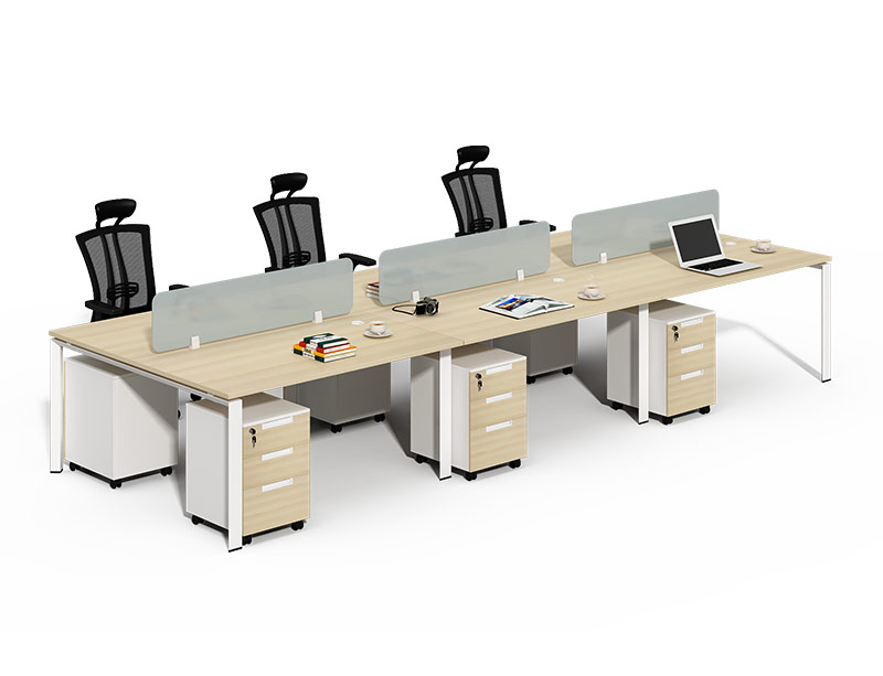 Glass Workstation Computer Desk With Drawers