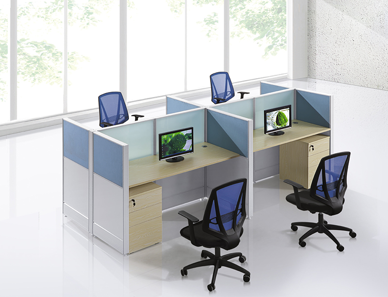 CF-W802 4 person linear workstation