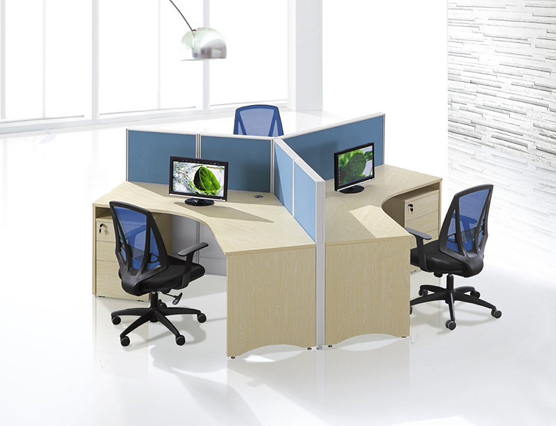 CF-W805 120 degree 3 seats workstation