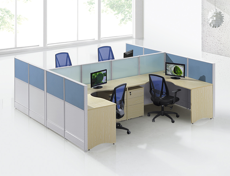 CF-W807 L-Shape staff desk for 4 person