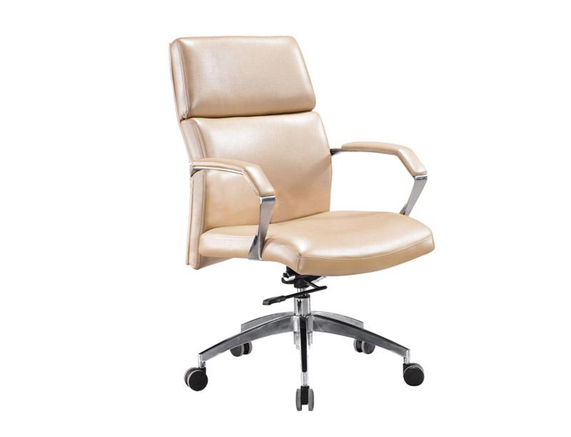 CF-OC101B Leather Medium back Chair