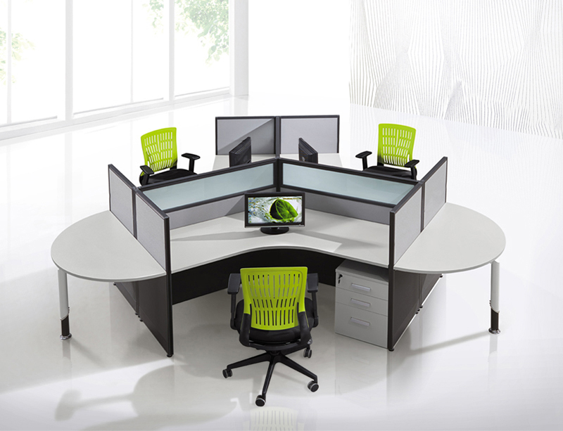 CF-W308 frosted glass office cubicles