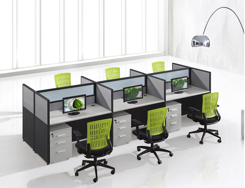 CF-W304 cubicles office workstation cubicle for 6 person