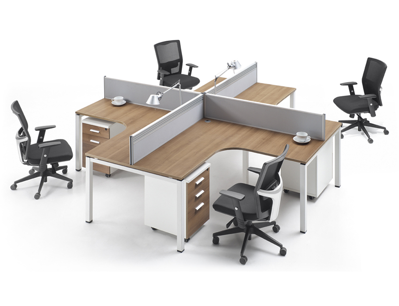 LQ-CD0828 L Shape 4 Person Workstation