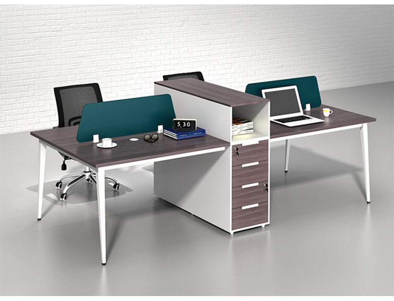 4 Person wooden furniture office workstation