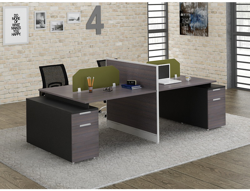 CF-BSP181 4 Person Workstation with Partition