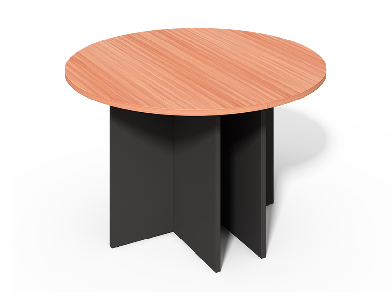 CF-100P Round Discussion Table with Wood Legs