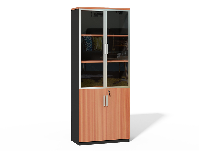 CF-2000S Fashion File Cabient Aluminum Frame with Glass Doors