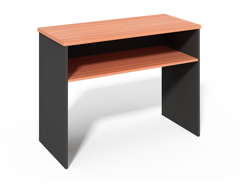 CF -10442B Side Table with Open Shelf Storage