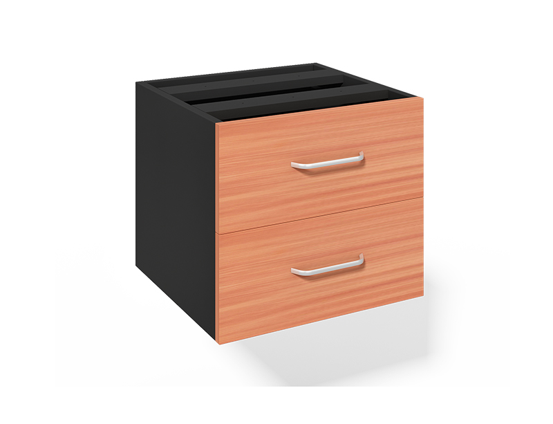 CF-360B 2 Drawers Fixed Pedestal for Office Desk