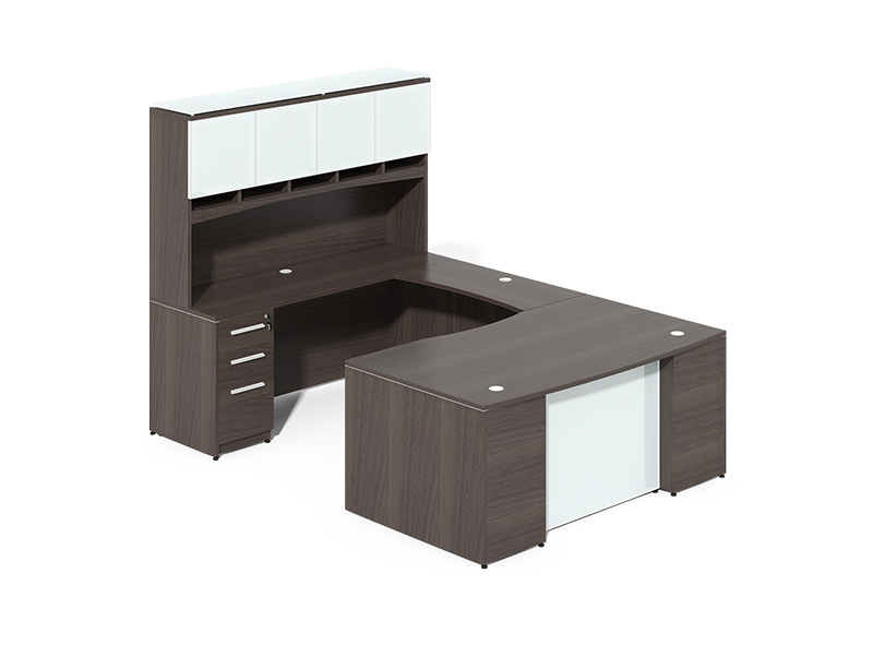 Factory wholesale quality office furniture u shaped executive office desk with hutch