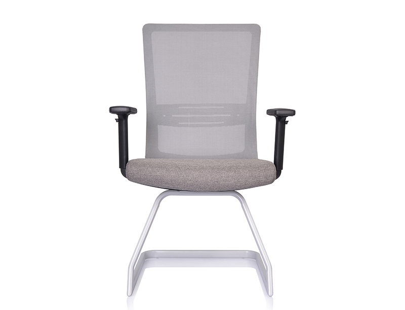 China Manufacturer grey fabric office conference room chairs without wheels CFI-O02V