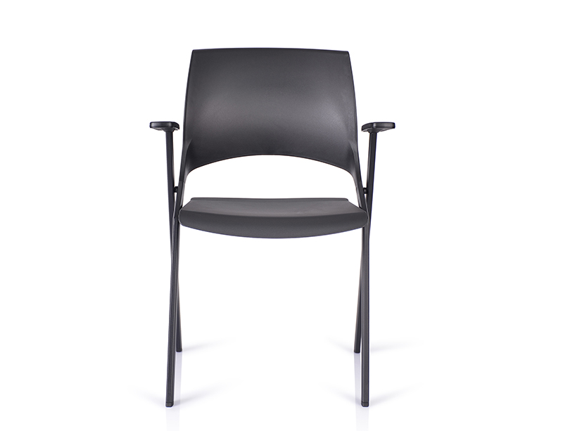 Black plastic folding chairs for sale CF-ID01