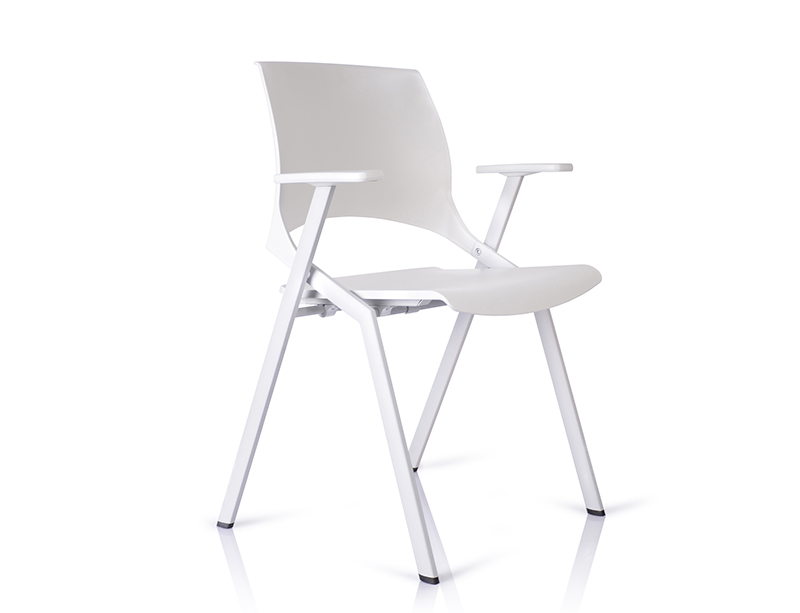 White Foldable plastic folding chairs online CF-ID01W