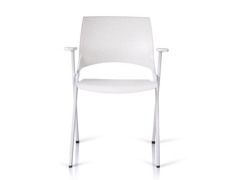 Hot Sell White Environmental Rear Stealth castors folding chairs for sale  CF-ID02W