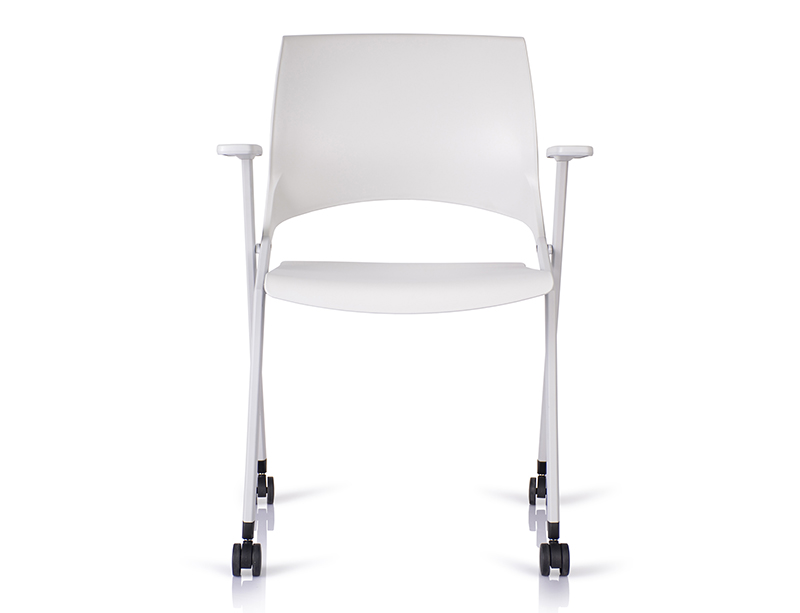 Stylish White Foldable Environmental foldable folding chair price online  CF-ID03W
