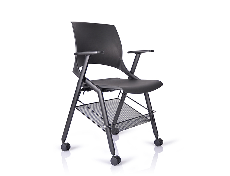 White/Black Painted Removable Book Basket folding chairs for sale CF-ID05