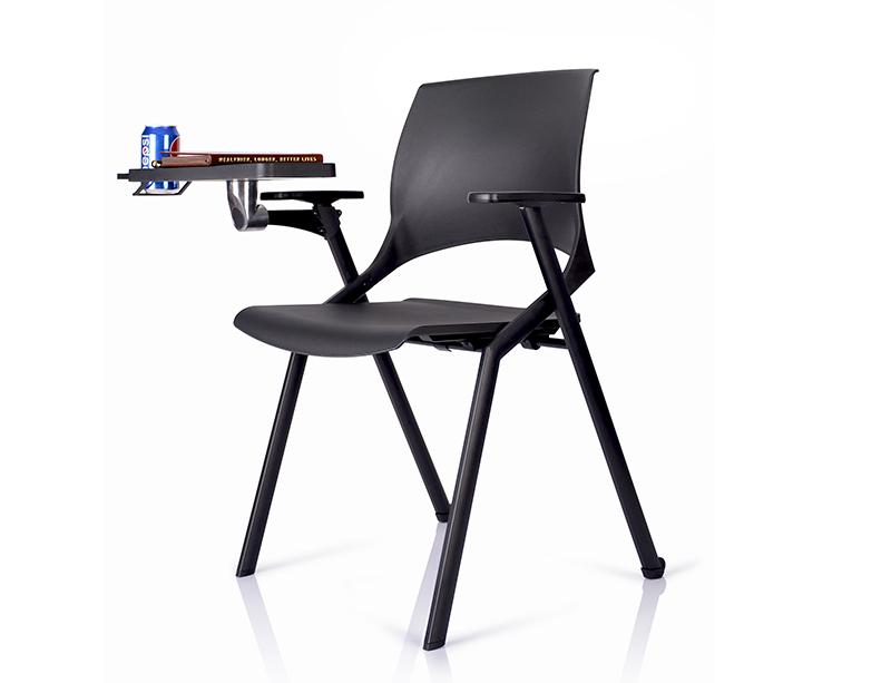 China Manufacturer Writing board black folding chairs online CF-ID06