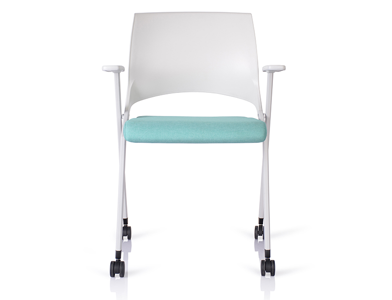 Hot selling Cheap White Waterproof Soft Seating stackable folding chairs for sale CF-ID05W
