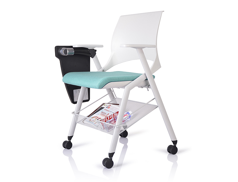 Factory price office training chairs with writing tablet for sale CF-ID04W