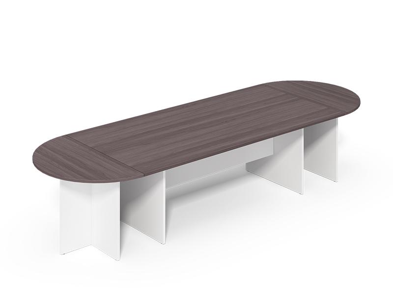 oval-shape meeting desk
