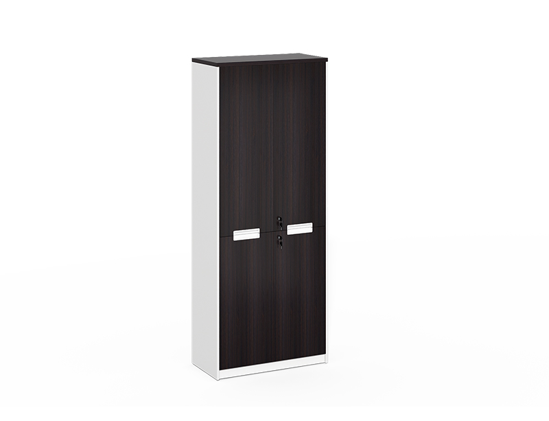 2 wood door file cabinet with lock