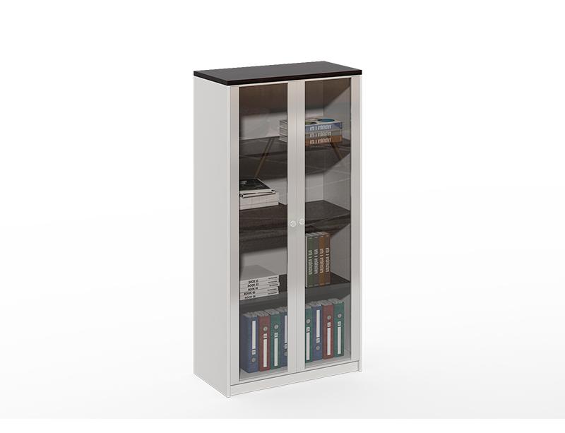 2 glass door file cabinet
