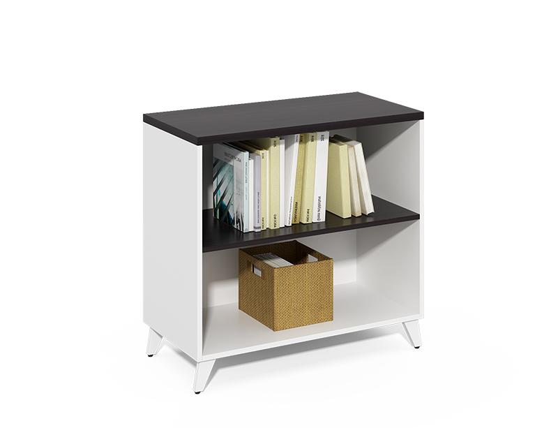 China Good Supplier Super Quality small black 2 layer open bookshelf