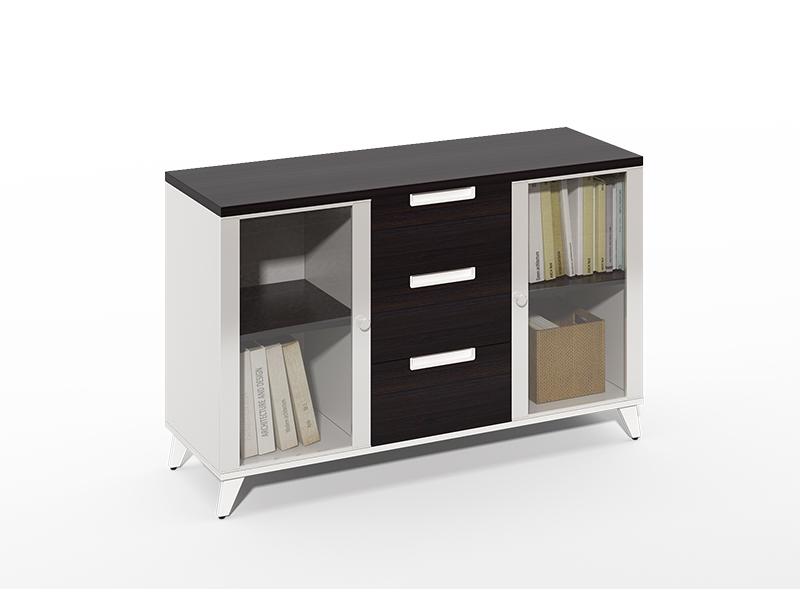 Aluminum frame Glass door small office cabinets online for sale CF-CLC1240ZJ