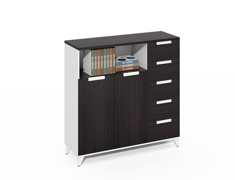 Contemporary 5 drawer file cabinet with shelf CF-CLC1240ZO