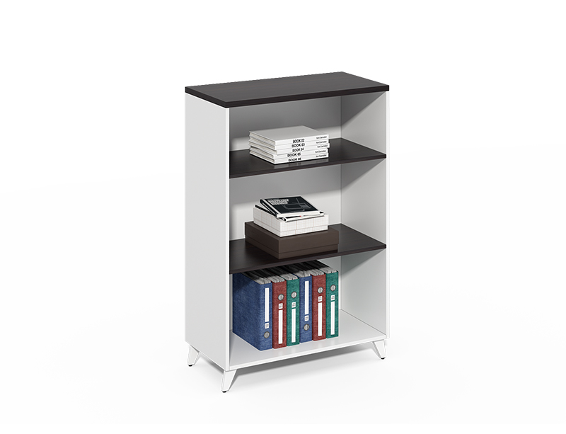 Factory price 4 layer wooden tall black bookshelf CF-CLF0816B