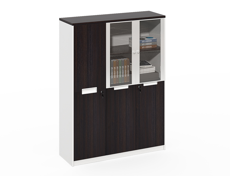 Office furniture in china Aluminum frame with 2 glass door file cabinet dimensions CF-CLF0820G