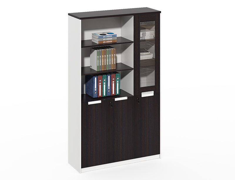 Factory price Wooden frame with glass office furniture file cabinets