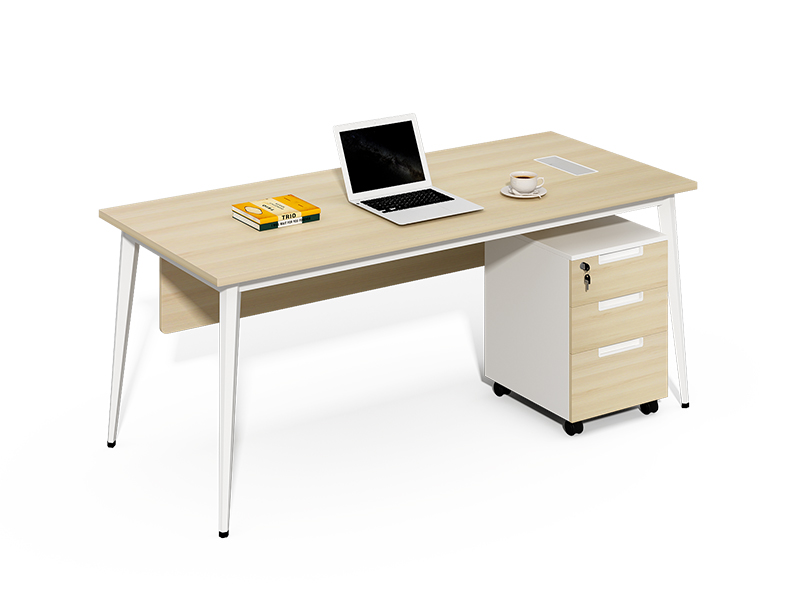 Wholesale office furniture factory luxury single office desk with 3 drawers mobile pedestal