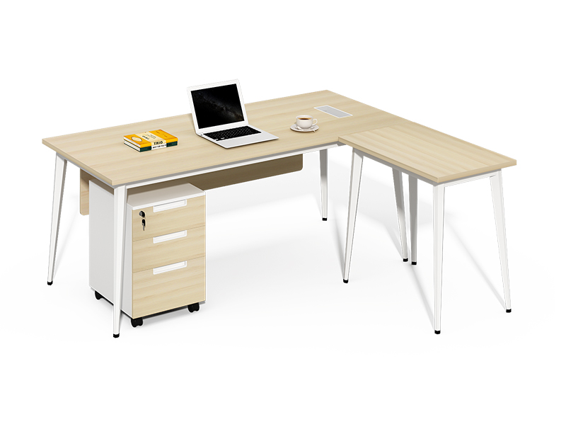 China Commercial office furniture factory l shaped executive table design CF-BKE1600D