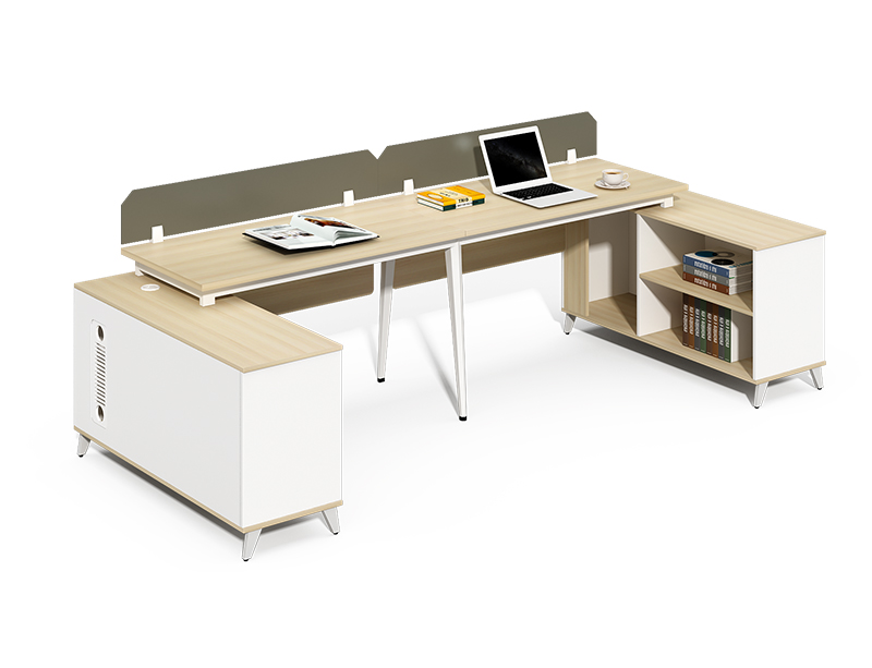 Hot sale 2 person office desk and bookshelf for sale CF-BKW2410M
